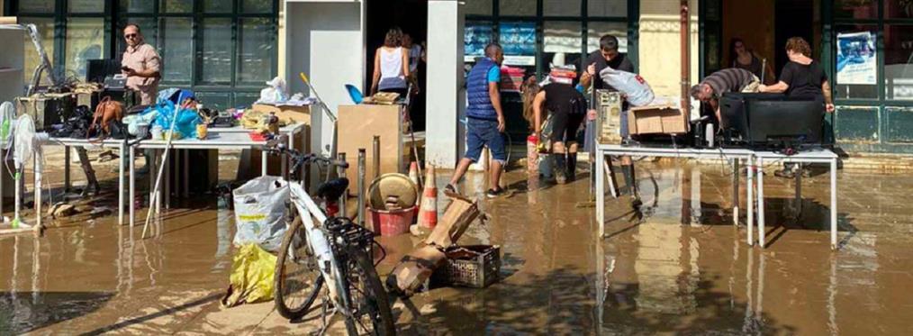 Καρδίτσα: πρόσφυγες στο πλευρό των πλημμυροπαθών