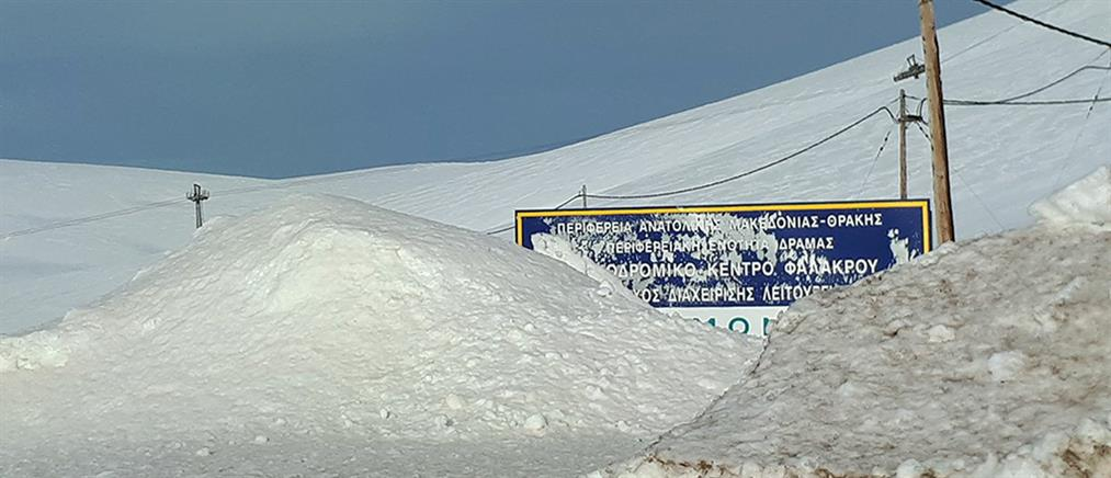 Φόβοι για χιονοστιβάδες στο Χιονοδρομικό Κέντρο Φαλακρού (εικόνες)