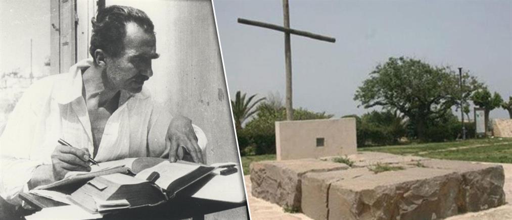Βεβήλωσαν τον τάφο του Νίκου Καζαντζάκη