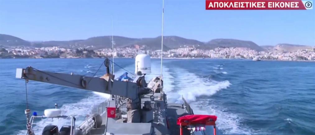 """Αποκλειστικό ΑΝΤ1: """"Τείχος προστασίας"""" στα ακριτικά νησιά από το Λιμενικό (βίντεο)"""