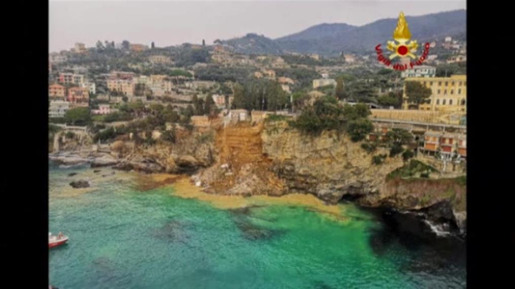 Ιταλία: Κοιμητήριο κατέρρευσε στη θάλασσα