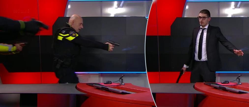 Εισβολή ενόπλου στο στούντιο της κρατικής τηλεόρασης στην Ολλανδία
