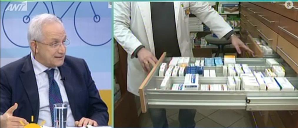 Πρόεδρος Πανελλήνιου Φαρμακευτικού Συλλόγου στον ΑΝΤ1: όχι πανικός για το φάρμακο της γρίπης (βίντεο)