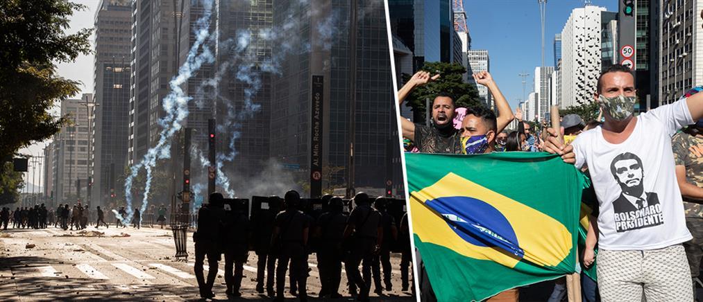 Χάος διαδηλώσεων στη Βραζιλία (εικόνες)