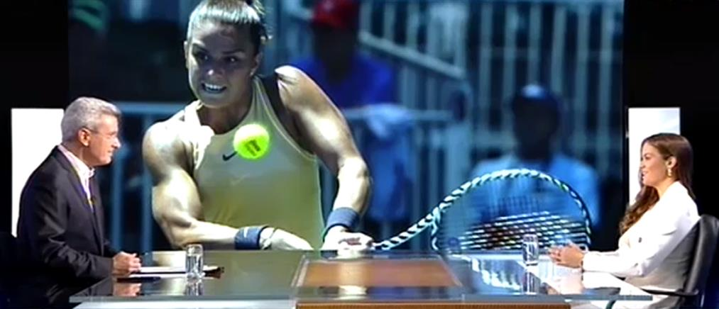 """Μαρία Σάκκαρη στο """"Ενώπιος Ενωπίω"""": δεν """"παίζει"""" κάτι με τον Τσιτσιπά, αλλά ποτέ δεν ξέρεις... (βίντεο)"""