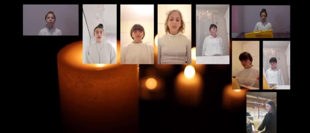 """""""Ω Γλυκύ Μου Έαρ"""":  Μαθητές με μεταλλόφωνα ψέλνουν το εγκώμιο του Επιταφίου (βίντεο)"""
