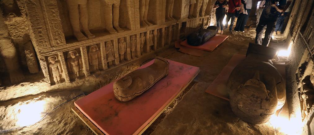 Αίγυπτος: φαραωνικές σαρκοφάγοι βρέθηκαν στη Νεκρόπολη της Σακκάρα