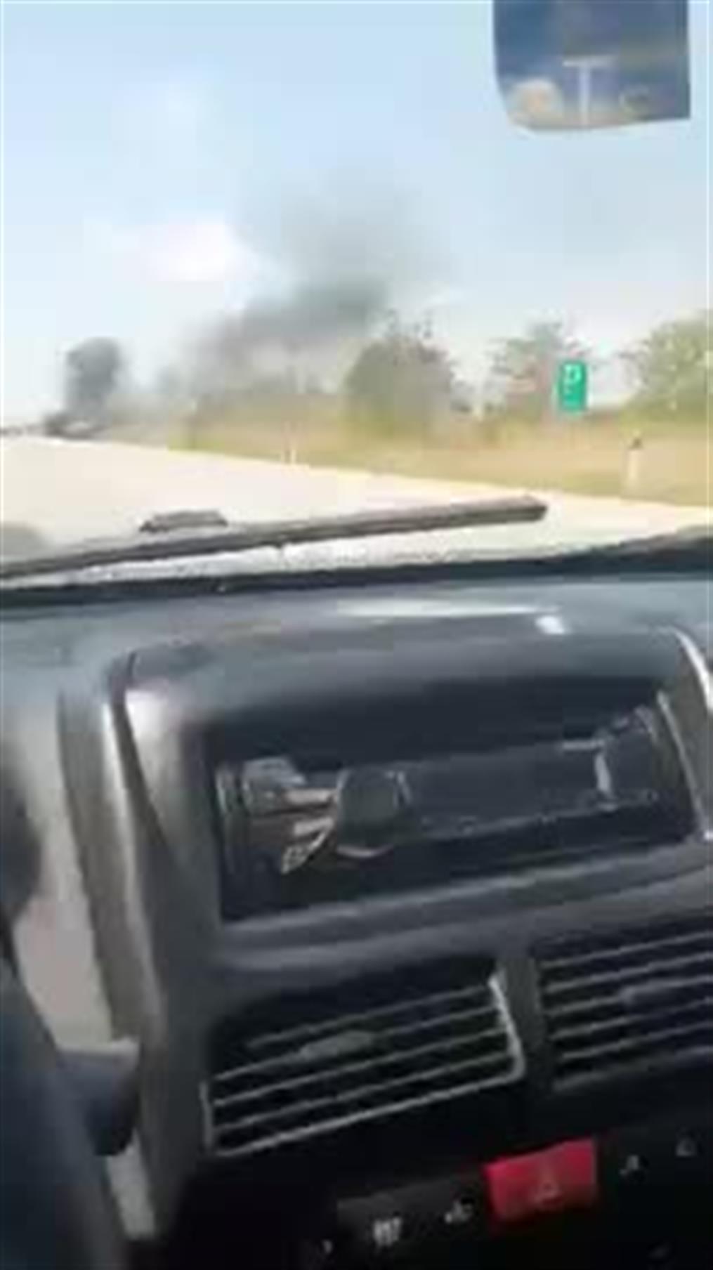 Φωτιά σε  εν κινήσει αυτοκίνητο στην Εθνική Οδό