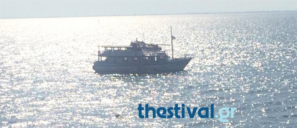 Πλοίο προσάραξε στα αβαθή της Καλαμαριάς