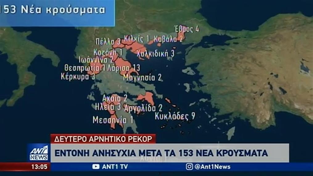Κορονοϊός: έξαρση των κρουσμάτων σε πολλές περιοχές της χώρας