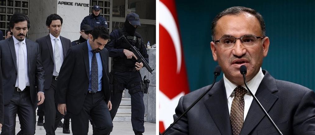 """Νέες απειλές Μποζντάγ για """"απαγωγή"""" των 8 Τούρκων αξιωματικών"""