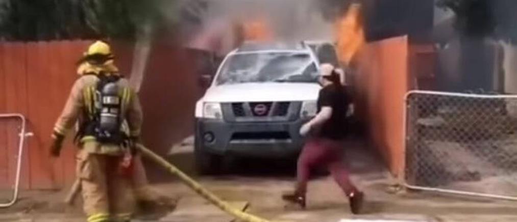 Άνδρας εισβάλει σε φλεγόμενο σπίτι για να σώσει τον σκύλο του (βίντεο)