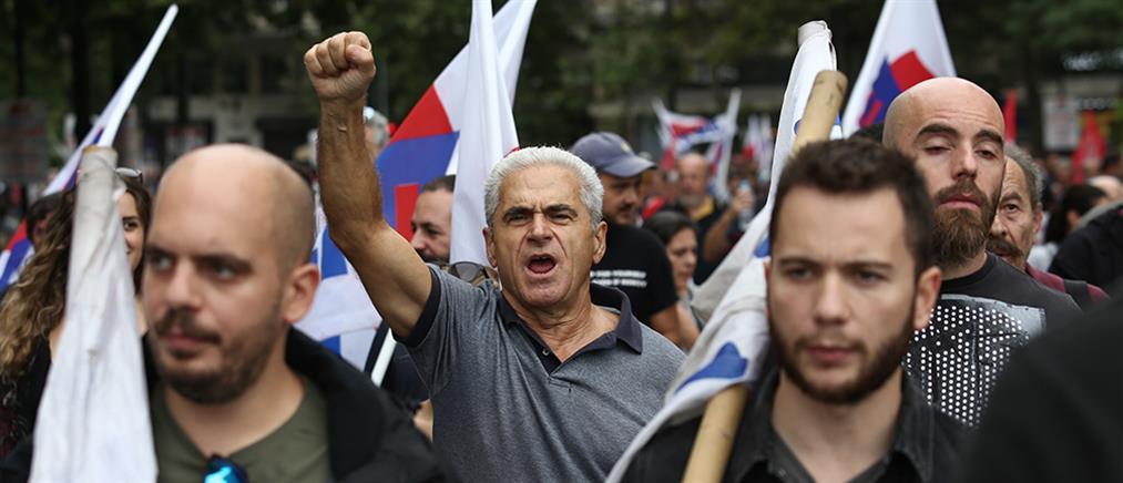 Κουτσούμπας στην πορεία του ΠΑΜΕ: Η σημερινή απεργία είναι μόνο η αρχή (εικόνες)