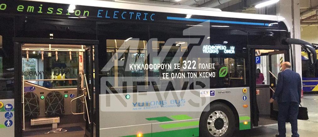 Στους δρόμους της Αθήνας ηλεκτροκίνητο λεωφορείο (βίντεο)