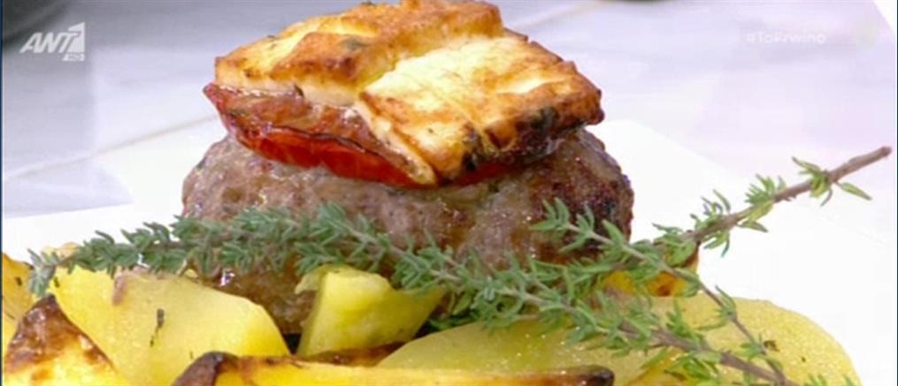 Μπιφτέκια με πατάτες στον φούρνο από τον Πέτρο Συρίγο