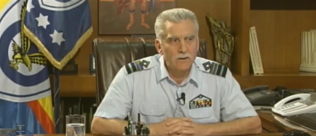 Βουρκώνει για τους πεσόντες αεροπόρους ο αρχηγός ΓΕΑ (βίντεο)