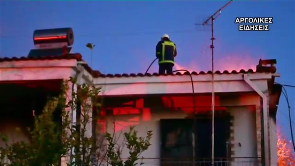 Πυρκαγιά σε σπίτι στην Αργολίδα