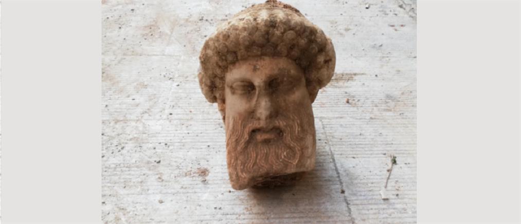 Υπουργείο Πολιτισμού: κεφαλή του 4ου π.Χ. αιώνα η αποκάλυψη στην Αιόλου
