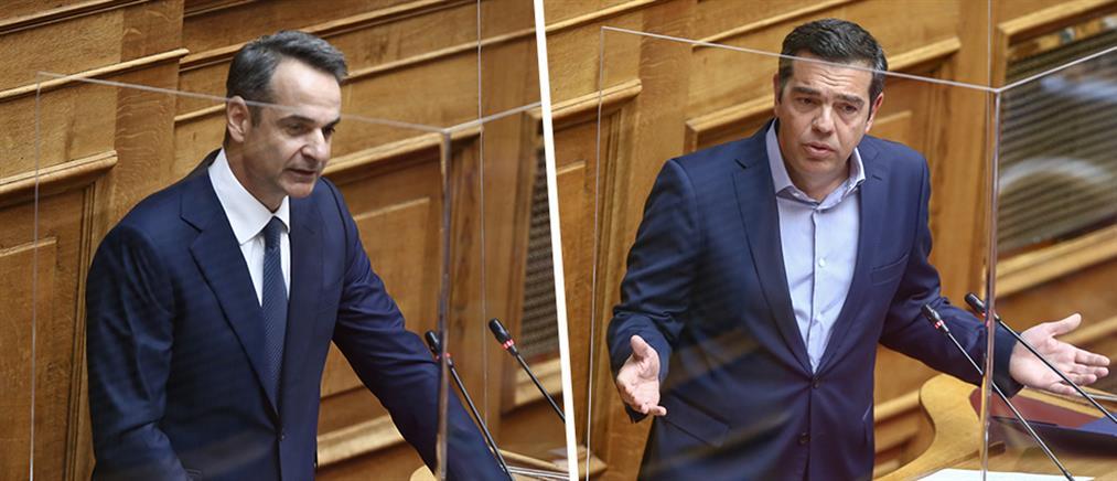 """Βουλή: """"Σύγκρουση"""" πολιτικών αρχηγών για τις συνέπειες της πανδημίας"""