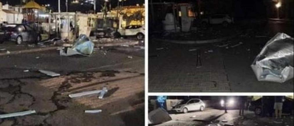 Μεγάλες ζημιές από ισχυρή έκρηξη ΑΤΜ (εικόνες)