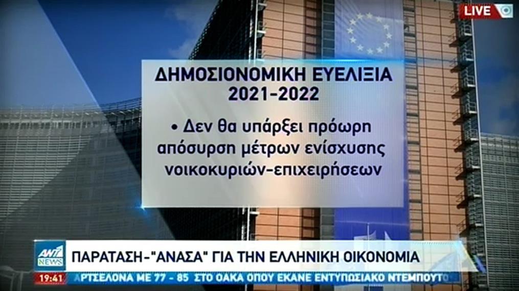 «Ανάσα» στην Ελλάδα από την παράταση στην δημοσιονομική χαλάρωση