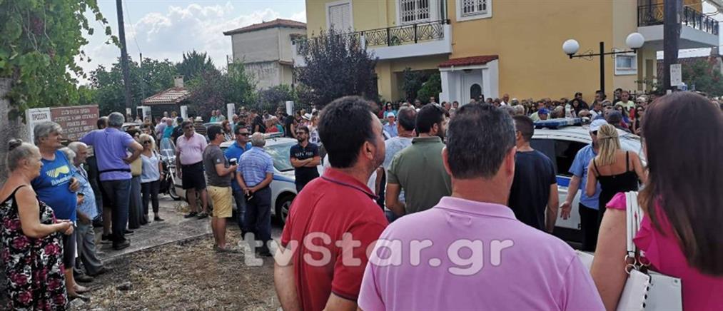 Νέος γύρος διαμαρτυριών για το hot spot στον Καραβόμυλο (εικόνες)