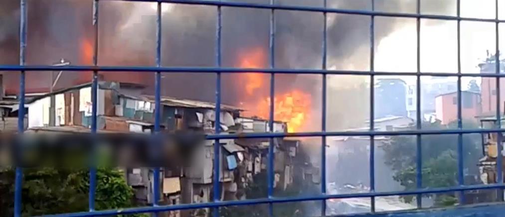 Φιλιππίνες: Φωτιά σάρωσε παραγκούπολη
