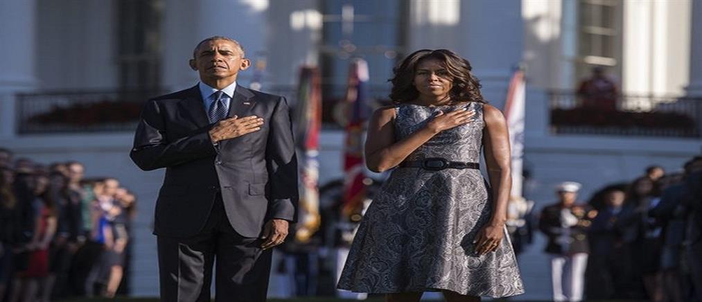 Ενός λεπτού σιγή από το ζεύγος Ομπάμα για την 11η Σεπτεμβρίου