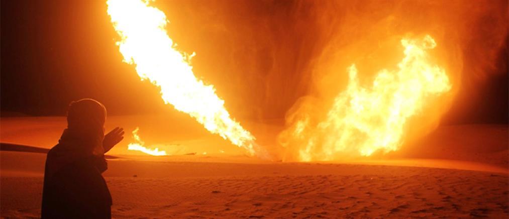 """Αίγυπτος: Ένοπλοι """"χτύπησαν"""" αγωγό αερίου (εικόνες)"""