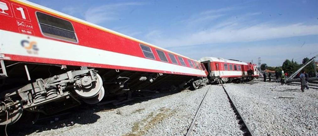 Εκτροχιασμός τρένου στο Πλατύ  Ημαθίας