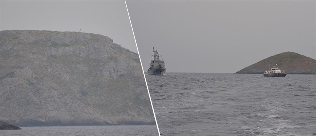 Φωτογραφίες ντοκουμέντο: η ελληνική σημαία κυματίζει στη βραχονησίδα Ανθρωποφάς (βίντεο)