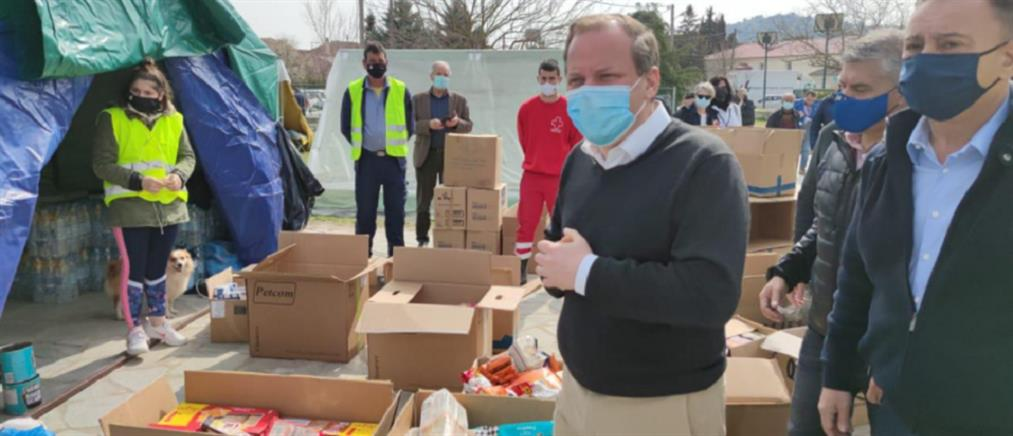Καραμανλής από Δαμάσι: άμεση επιδότηση ενοικίου στους σεισμόπληκτους