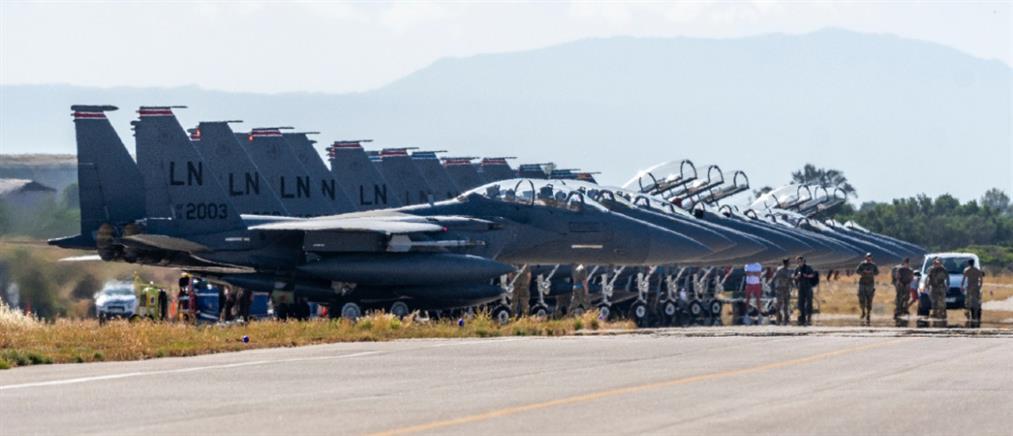 """""""Poseidon's Rage"""": Επιχειρησιακή συνεκπαίδευση με την Πολεμική Αεροπορία των ΗΠΑ (εικόνες)"""