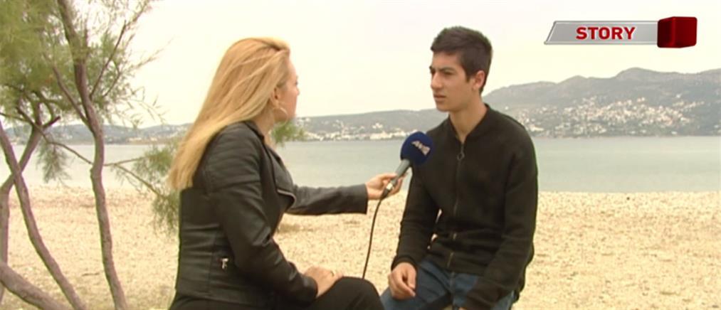 Ο 17χρονος δύτης που καθαρίζει τον βυθό στις παραλίες της Αττικής μιλά στον ΑΝΤ1 (βίντεο)