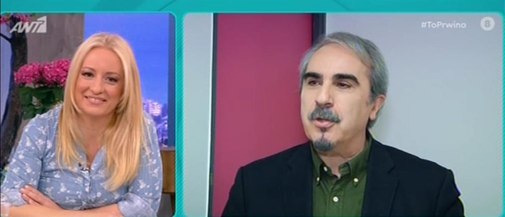 """Ο Βαγγέλης Περρής στο """"Πρωινό"""" για την τηλεόραση και την καραντίνα (βίντεο)"""