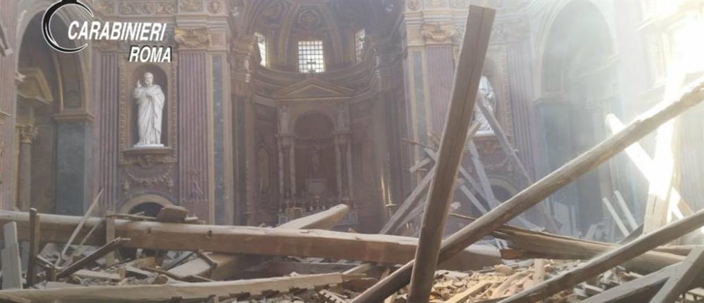 Κατέρρευσε η οροφή ιστορικής εκκλησίας στο κέντρο της Ρώμης (βίντεο)