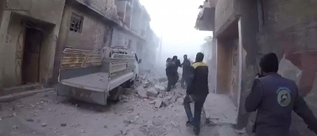 Ανατολική Γούτα: τους βομβάρδισαν τη στιγμή της διάσωσης (βίντεο)
