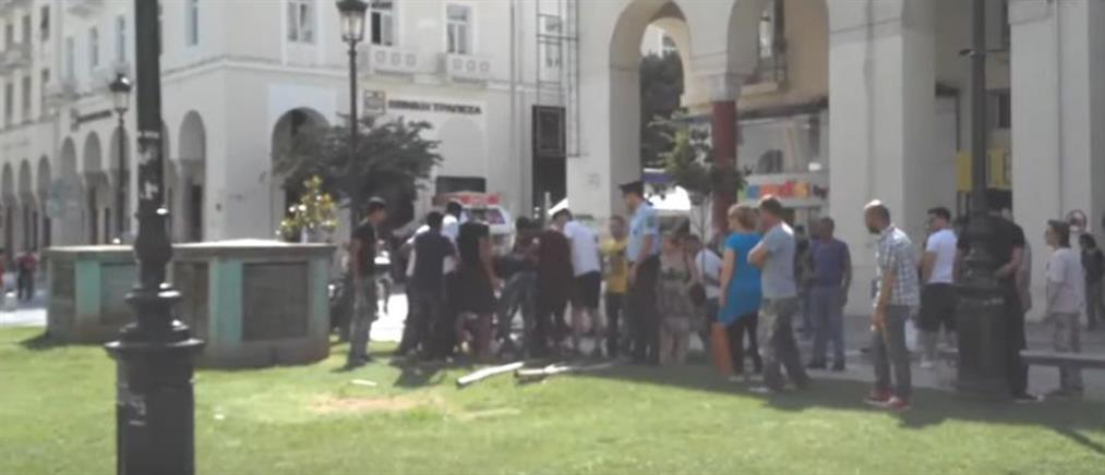 Αιματηρές συμπλοκές στο κέντρο της Θεσσαλονίκης (βίντεο)
