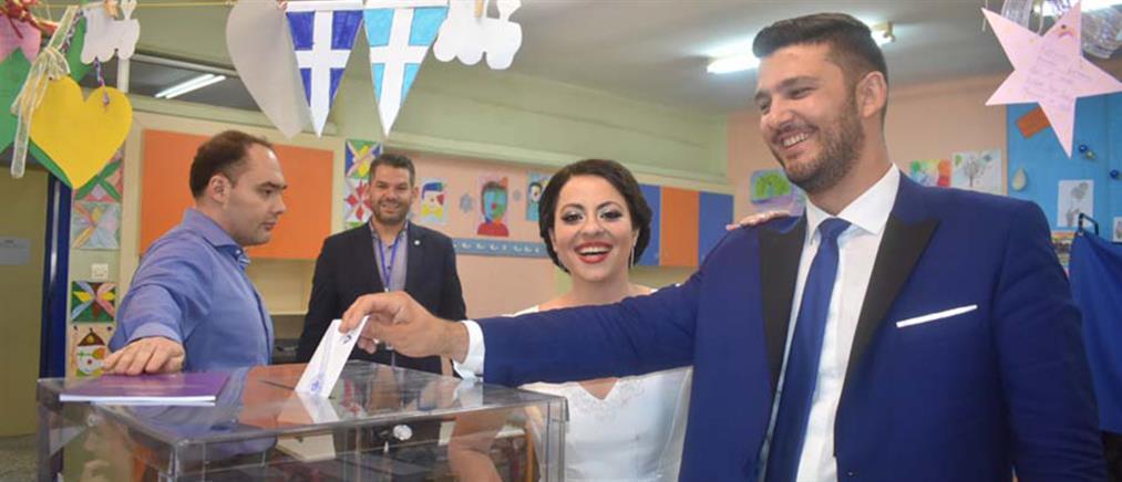 Εκλογές 2019: Από τον γάμο... στην κάλπη (εικόνες)