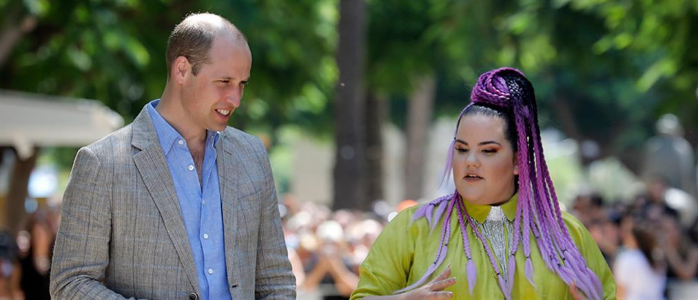 Ο περίπατος του πρίγκιπα Ουίλιαμ με την νικήτρια της Eurovision (εικόνες)