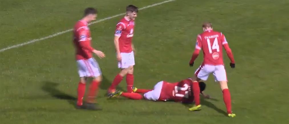 Τραυματίστηκε ενώ... πανηγύριζε το γκολ του! (βίντεο)