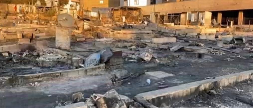 """Λίβανος: """"Στάχτη"""" έγινε καταυλισμός προσφύγων μετά από εμπρησμό (βίντεο)"""