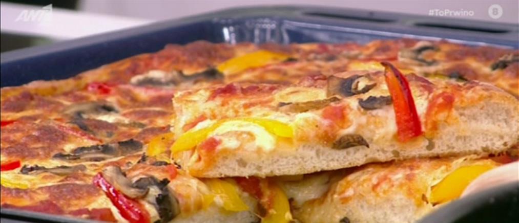 Συνταγή για πίτσα και φοκάτσια από τον Πέτρο Συρίγο