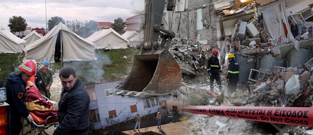 Σεισμός στην Αλβανία: Θρήνος και αγωνία στα χαλάσματα (βίντεο)
