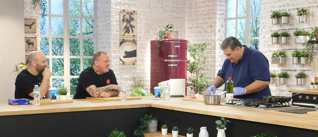 """Food N' Friends"": Ο Δημήτρης Σταρόβας σε... μαγειρικές περιπέτειες (εικόνες)"