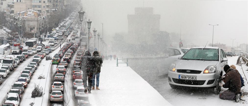 Στο έλεος του χιονιά και των προβλημάτων η Θεσσαλονίκη
