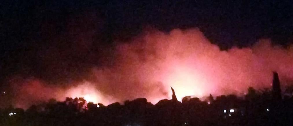 Φωτιά στη Νέα Μάκρη: ειδοποίηση έκτακτης ανάγκης από τη ΓΓΠΠ