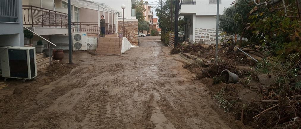 Κακοκαιρία: βιβλικές καταστροφές σε Θάσο και Χαλκιδική (εικόνες)