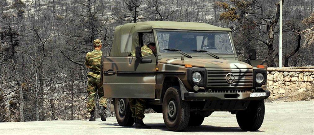 Τροχαίο με στρατιωτικό όχημα