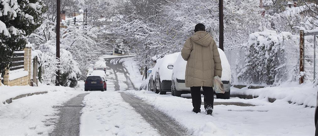 Χιονισμένα τα ορεινά της Αττικής (εικόνες)